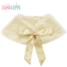 Champagne Spring Autumn Baby Girl Coats Rabbit Soft Faux Fur cloak Toddler for Children's Cape outerwear Party Clothing 9 Colors(China)