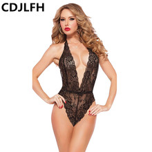 Buy Sexy Lingerie Plus Size Satin Silk Lace Black Intimate Sleepwear Erotic Sexy Hollow Women Sexy Erotic Underwear Sleepwear
