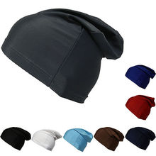 Dome Cap Slouch Spandex Liner Sports Biker FootBall Beanie Hat Headwrap Stretch skull cap