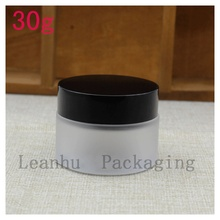 Wholesale 30g Frosted Glass Cream Jar,Women's Personal Care Beauty Skin Care Exclusive Use,Empty Cosmetics Packaging Container