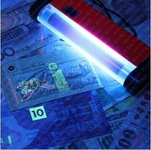 Portable UV Ultra Violet LED Light Torch Lamp ID Card banknote bill Currency Money detector