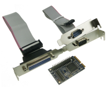 MINI PCI-e adapter to RS232 serial and parallel transfer COM mini pcie parallel printer port expansion card