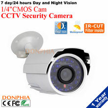 Day/Night Waterproof Camera CMOS 24PCS IR-LEDs with IR Cut CCTV cam Home Security  Bullet Surveillance outdoor use free shipping