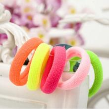 5pcs / pack Cheap Colorful Fashion Child Lovely Wild Elastic Hair Bands Solid Headwear Jewelry Accessories  Women Gift Wholesale