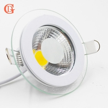 LED Downlight COB Dimmable 7W 10W 12W 15W 20W 30W LED COB Panel Light AC85-265V Recessed COB Downlight Glass Cover LED Spot bulb()