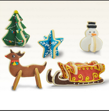 New!3D Christmas 8 pieces suit* snowman fawn sled cookie mould stainless steel 8 pieces/box(China)