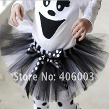 free shipping1pc kids halloween black and white ball gown skirt tutus lot childrens handmade tutu skirt baby