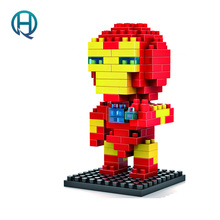 Mini Nano Blocks Super Heroes LOZ Building Iron Man Action Figure Diamond Compatible Legoelieds 9158 - QH mall store