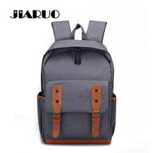 JIARUO Brand Oxford School bag For bag Men's Daily Backpack for Book Laptop Belt Design Teenager Children Middle School bag