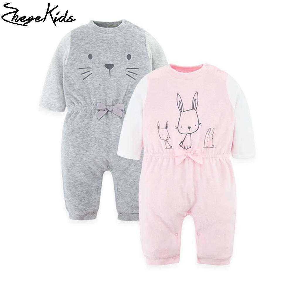 New 2017 Newborn Clothes Baby Boy Gril Romper Long Sleeve Fox Cat Cute Cartoon Pattern Baby Clothing Jumpsuit Infant Product<br><br>Aliexpress
