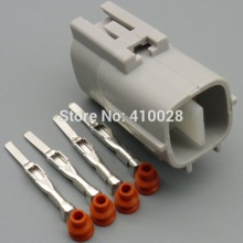 5/30/100sets 2.2mm  4pin male universal 4 way oxygen sensor plug  2JZ A/C 4P Connector case for Toyota