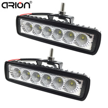 2Pcs 18W Flood LED Work Light ATV Off Road Lamp Fog Driving Light Bar For 4x4 Offroad SUV Car Truck Trailer Tractor UTV Vehicle(China)