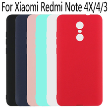 For Xiaomi Redmi Note 4X 4 3 Case Soft TPU Candy colors Frosted Protective Back cover case for xiaomi redmi note4 4x shell
