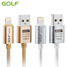 GOLF 2.1A USB Data Sync Charging Cable For iPhone 5 5S 6 Plus 6S iPad4 5 mini Air 2 Cell Phone Charge Cables