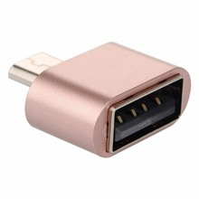 Mini Micro USB Male OTG to USB Female Adapter Converter for Huawei Meizu Xiaomi Android Smartphone Tablet Cable Silver Rose Gold
