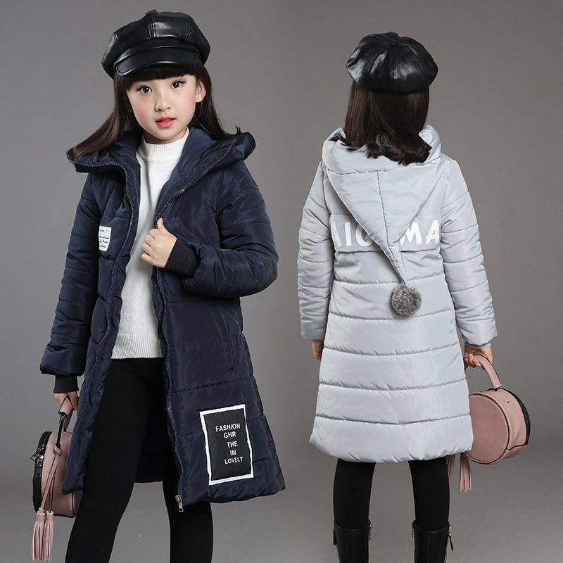 Winter down jacket for girl Long Kids Warm Outerwear Children Thick Jacket Cotton Vestido Infantil Clothing Girls Xmas Gift L-75Одежда и ак�е��уары<br><br><br>Aliexpress
