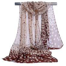 Cheap Head Scarves  Hot Selling Chiffon Women Fashion Print Polka Dot Scarf Shawls And Scarves  Sjaals Zomer 2017