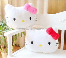 J.G Chen High Quality Lovely Hello Kitty Pillow Toy Soft Hand Warmer Warm Stuffed Plush Hello Kitty Cushion 2 Color Plush Toys(China)