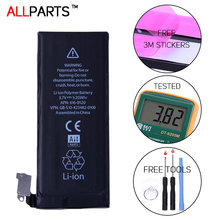 Allparts Original 1420mAh Phone Battery For iPhone 4 iPhone4 4G Battery Replacement Geniune Free Adhesive Strips +Tools