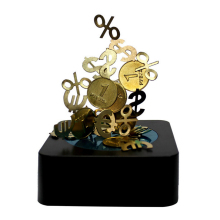 Fashion Magnetic Desktop DIY Sculpture Executive Gift Office Desk Toy Dollar Signs Magnet Toys Gifts