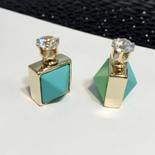 2016High quality Korea fashion Personality type geometry Luxury inlay zircon women earrings Free shipping Buy two,get one free