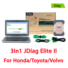 JDiag Elite II Wireless+E6430 Laptop For Honda Toyota Volvo J2534 Diagnostic Tool with HDS Techstream VIDA OBD2 Auto Scanner(China)