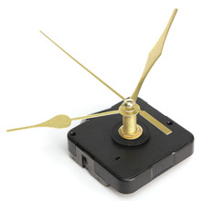 High Quality New Gold Hands Quartz Black Wall Clock Movement Mechanism Repair Parts Silent Furniture Bolt(China)