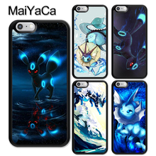 MaiYaCa pokemons Vaporeon Anime Pattern Soft Rubber Phone Cases iPhone 6 6S Plus 7 8 Plus X 5 5S SE Cover Bags Skin Shell