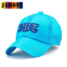 JAMONT Quick Dry Colorful Kids Baseball Caps 5 Panel Adjustable Snapback Casual Children Hats Summer Sun Visor Sunscreen(China)