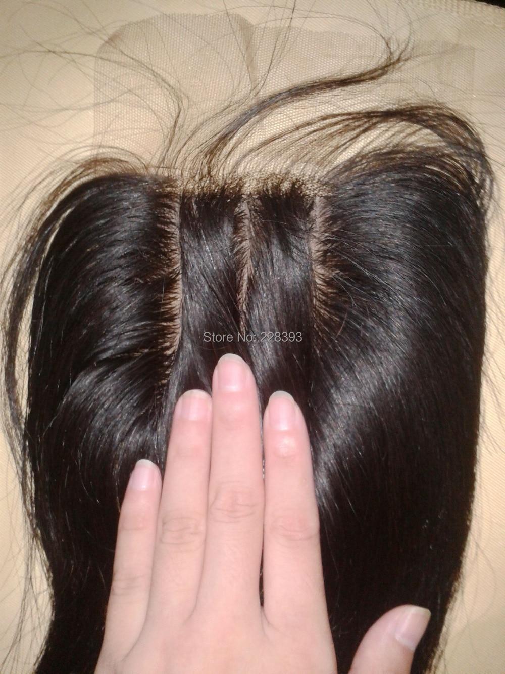 DHL Free Shipping Silk Base Closure 3 Part  Silk Closure Natural Colour Virgin Straight Human Hair Top Quality Your Best Choice<br><br>Aliexpress