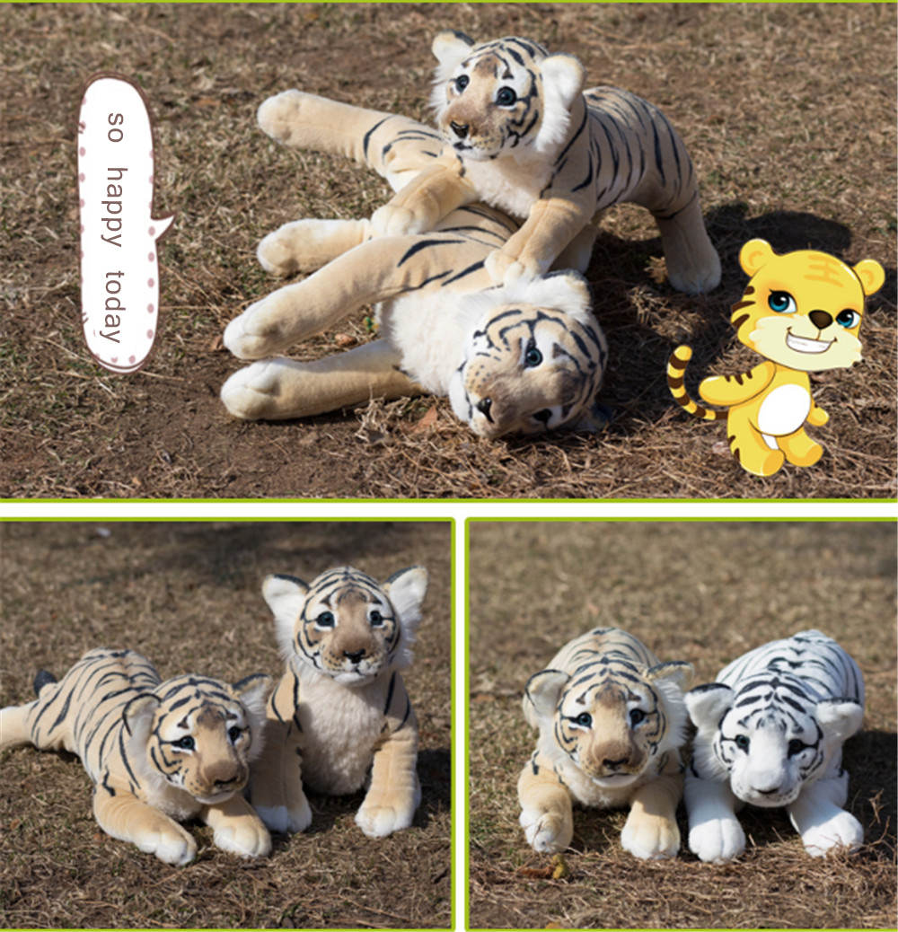 Fancytrader Soft Stuffed Animals Tiger Plush Toys Pillow Simulated Animal Baby Tiger Leopard Doll Brinquedo Toys For Children7