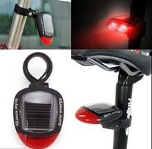 2016 Hot Sale New 2LED Solar Power Bike Bicycle Led Light Cycling Outdoor Sports Rear Tail Red Taillight Luces Led Bbicicleta