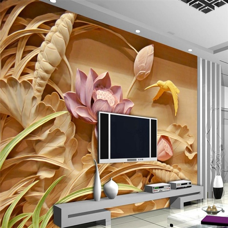 Custom 3d mural wallpaper European style painting stereoscopic relief jade living room TV backdrop bedroom photo wall paper 3d<br><br>Aliexpress