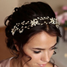 Handmade Bridesmaid Hair Band Pearl Hair Vine Wedding Hair Piece Head Tiara Jewelry Bridal Hair Accessories Headpieces
