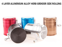 Large Big Herb Grinder Weed Dia63MM 4 Levels Aluminum Alloy Crusher Side Rolling for Smoke Glass Bong Water Pipe Hookah Shisha