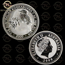 100pcs /lot FAST DELIVERY <4-8 Days to Europe> Australia 1 Troy Oz .999 Silver Coin 2000 Kookaburra Bird Coins Bullion