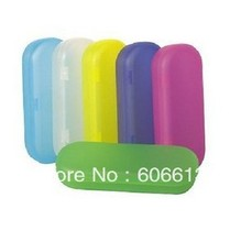 Bright Coloured Hard Plastic Eyeglasses Spectacle Case, Colorful PP Eyewear Box, 10pcs/lot