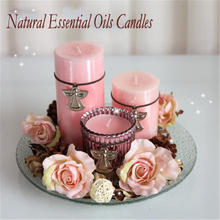 Essential Oil Candles Aromathorapy Candela Et Chandelles Znicz Decorative Candle Scented Wedding Decoration Pillar Candle DDZ14(China)