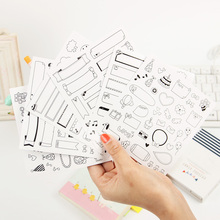 12 Sheets/lot Calendar Paper Sticker DIY Scrapbooking Diary Planner Sticky Post It Kawaii Stationery Sticker Office Supplies(China)