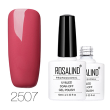 ROSALIND 10ml Nude Color Series Gel Nail Polish Nail Gel Polish Nail Art UV LED Gel Soak-off Varnish Color UV Builder Lacquer
