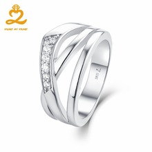 Heart By Heart Promise Ring Big Size Pure 925 Silver White Gold Crown Set of Rings Jewelry for Men Women Wedding Gift Jewel(China)