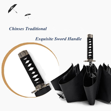 High Quality Brand Creative Warrior Samurai Short Japanese Sword Handle Rainy Sunny Umbrella Men Women Windproof Cool Cosplay(China)