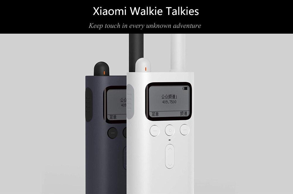 Original Xiaomi Mijia Smart Walkie Talkie FM Radio 8 Dayds Standby Smart Phone APP Location Share Fast Team Talk