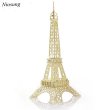 Niosung Eiffel Tower 3d jigsaw puzzle toys wooden adult children's intelligence toys Child Game Gift