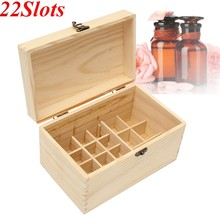 22 Slots Wooden Box Essential Oils Box Portable Multifunction Jewelry Storage Case Decorative Boxes For Home Decor Crafts