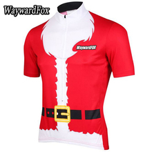 NEW summer men's Red cycling jerseys short sleeved Christmas Santa Claus bike clothes Cycling clothing road Bicycle wear