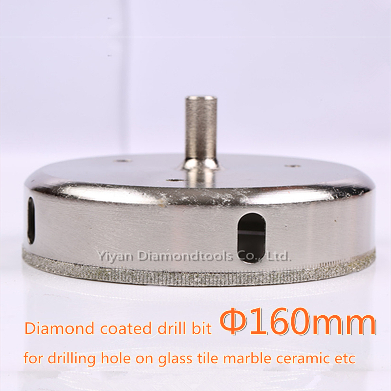 1pc 160mm outer dia diamond core drill bit glass hole opener cutter for glass ceramic tile porcelain marble hole drilling<br>