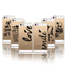 For Apple iPhone 5 5s SE Phone Case Cover Clear Soft Protector Portuguese Words Love Amor Design Transparent Mobile Phone Bag