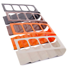 Plastic TV DVD VCR Step Remote Control Mobile Phone Holder Stand Storage Caddy Organiser 4 Frame Home Organization V410