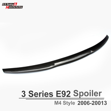 3 series e92 m4 style carbon fiber rear trunk wings spoiler for bmw 3 series e92 2006-2013 2-door model